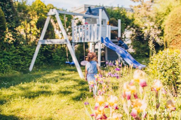 Unsere Gartenplanung und unser neuer Spielturm von Wickey Ein Kletterturm mit Rutsche Sandkasten Schaukel und Spielhaus Unsere Erfahrung mit dem Wickey Spielturm | https://youdid.blog