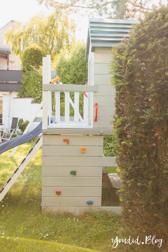 Unsere Gartenplanung und unser neuer Spielturm von Wickey Ein Kletterturm mit Rutsche Sandkasten Schaukel und Spielhaus Unsere Erfahrung mit dem Wickey Spielturm Kletterturm | https://youdid.blog