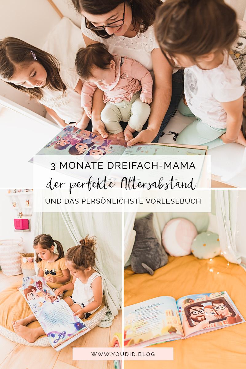 3 Monate Dreifach Mama - der perfekte Altersabstand und das persönlichste Vorlesebuch von Hurra Helden | https://youdid.blog