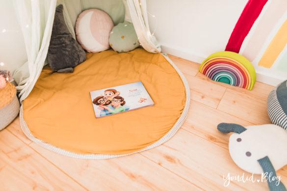 3 Monate Dreifach Mama - der perfekte Altersabstand und das persönlichste Vorlesebuch von Hurra Helden Leseecke im Kinderzimmer | https://youdid.blog