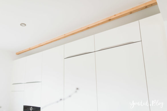 Bauanleitung Küchenschränke verkoffern Küchenschrankwand abkoffern Küchenhochschränke mit Trockenbau verkleiden und Lichtkonzept in der Küche Anleitung | https://youdid.blog