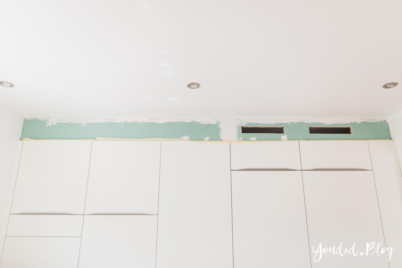 Bauanleitung Küchenschränke verkoffern Trockenbau in der Küche und Lichtkonzept in der Küche | https://youdid.blog