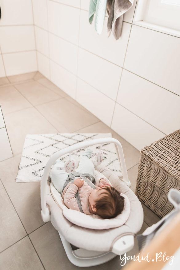 Duschen mit Baby und meine Erfahrungen mit der elektrischen Wippe Serina 2in1 | https://youdid.blog