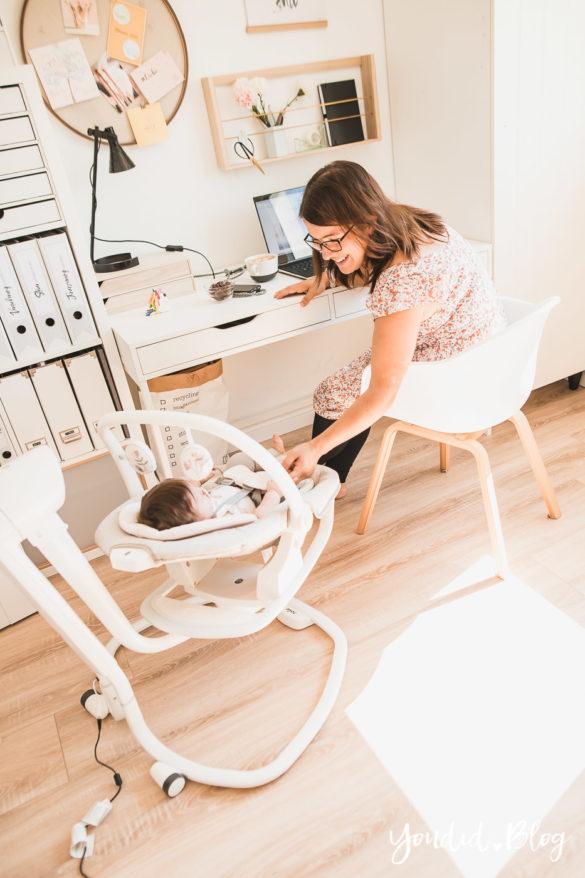 Mit kleinen Kindern im Home Office meine Tipps und Erfahrungen mit der elektrischen Wippe Serina 2in1 | https://youdid.blog