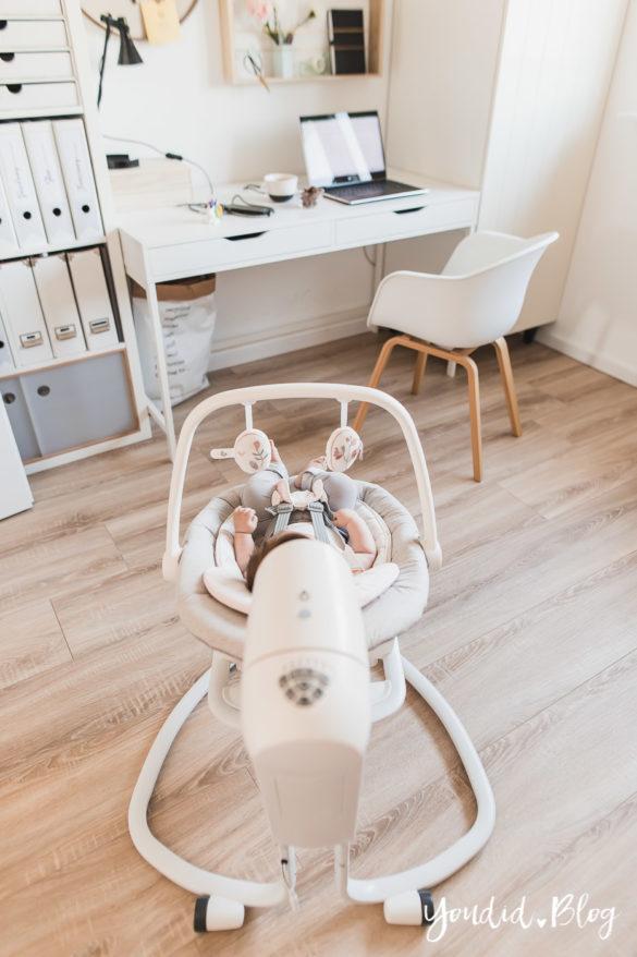 Tipps um mit Kindern im Home Office zu arbeiten und Erfahrung mit der elektrischen Wippe Serina 2in1 | https://youdid.blog