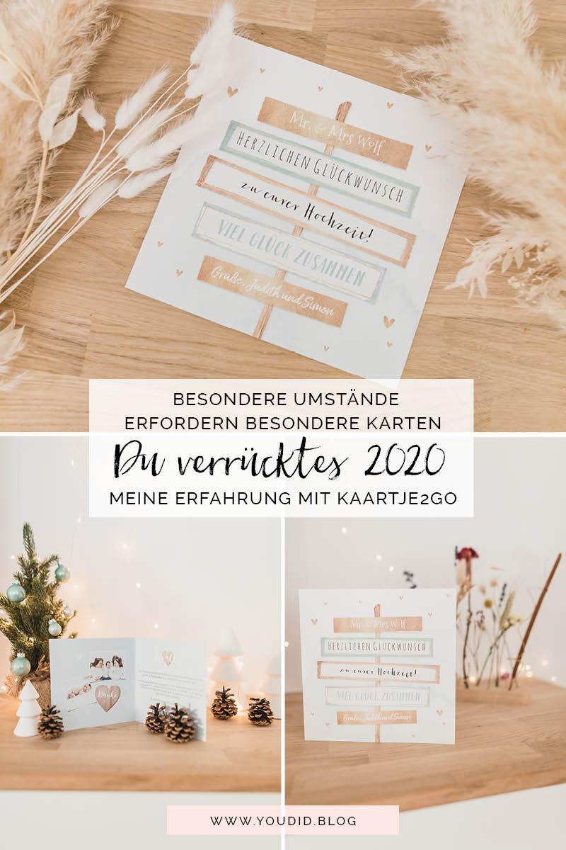 Besondere Umstände erfordern besondere Karten - meine Erfahrung mit Kaartje2go Pampasgras Hochzeitspapeterie Lichterkette individuelle Glückwunschkarten zur Hochzeit | https://youdid.blog