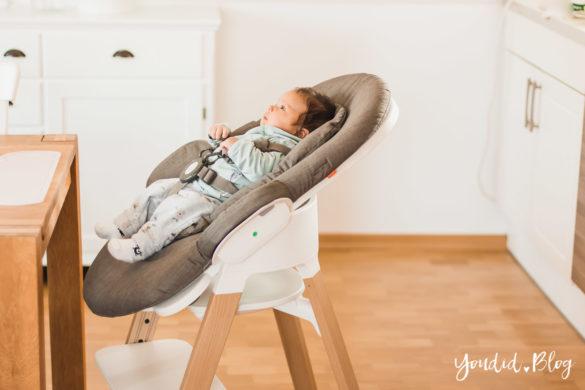 Den perfekten Hochstuhl mit Newborn Aufsatz finden - Unsere Erfahrung mit dem Stokke Steps nach 3 Kindern | https://youdid.blog