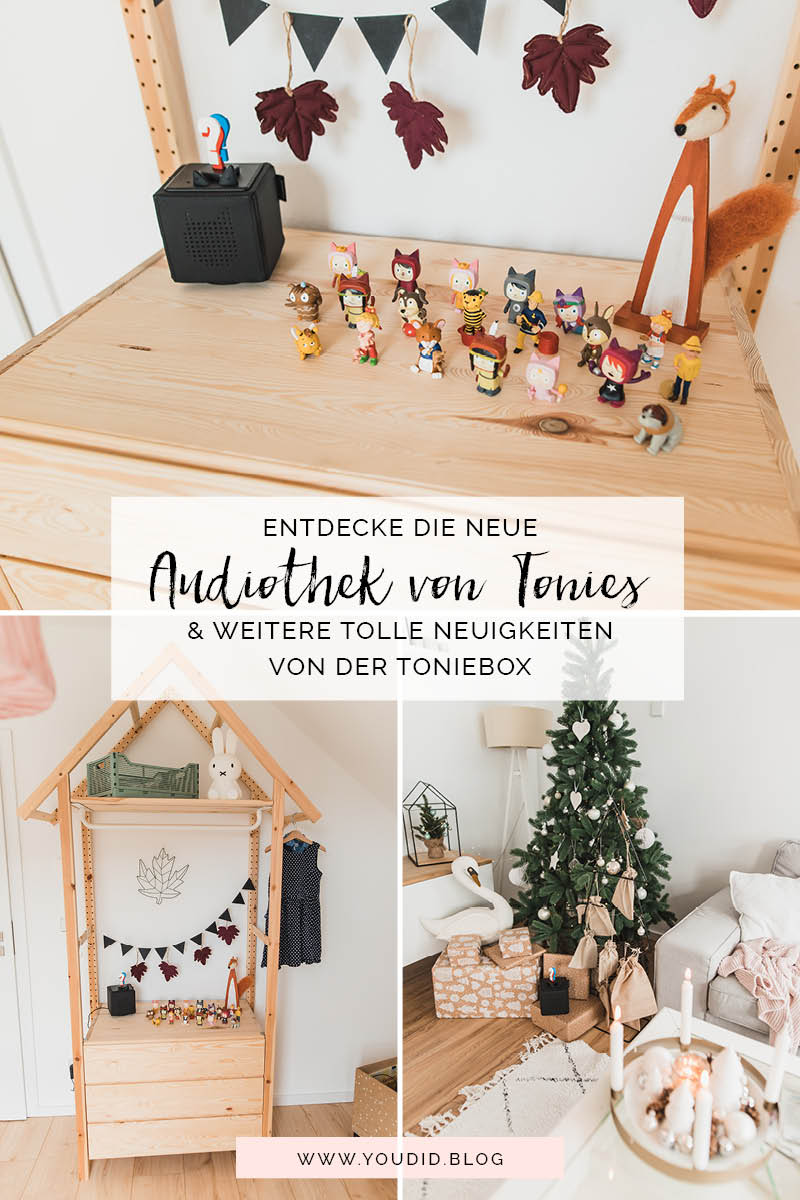 Was gibts Neues von der Toniebox - Entdecke die Audiothek von Tonies - IKEA Hack Hauskleiderschrank Toniesammlung | https://youdid.blog