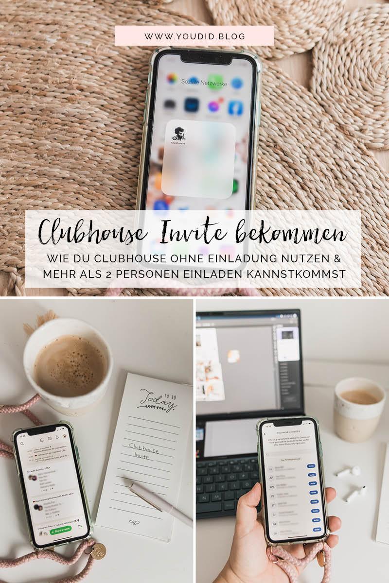 Kostenlose Clubhouse Invite bekommen Clubhouse Einladung nutzen und mehr als 2 Personen einladen Invitecode Einladung | https://youdid.blog