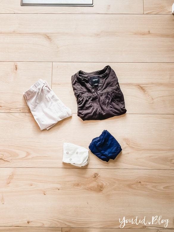 10 Mama Hacks super praktische Lifehacks die neuen Windeln von Lillydoo Kleidung als Rolle | https://youdid.blog