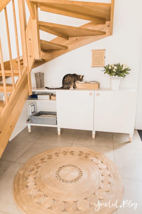 DIY IKEA Hack verstecktes Katzenklo - Hiding cat litter box - IKEA Hack hidden cat litter box in a ikea cabinet | https://youdid.blog
