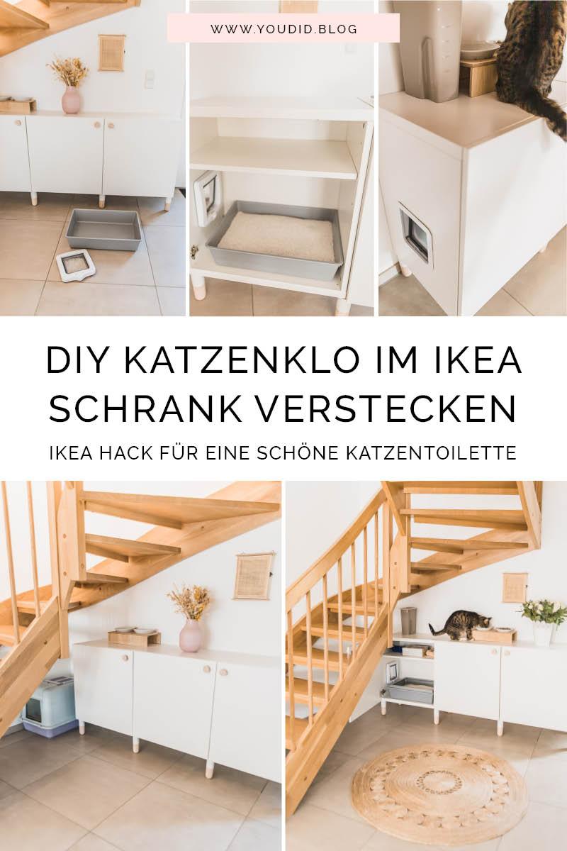 DIY Katzenklo in einem IKEA Besta Schrank verstecken IKEA Hack versteckte Katzentoilette Hiding cat litter box IKEA Hack hidden cat litter box in a ikea cabinet | https://youdid.blog
