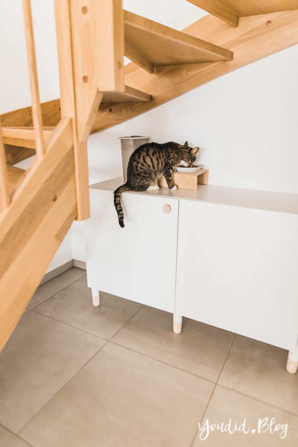 DIY Katzenklo in einem IKEA Besta Schrank verstecken - IKEA Hack verstecktes Katzenklo - Hiding cat litter box in a ikea cabinet | https://youdid.blog