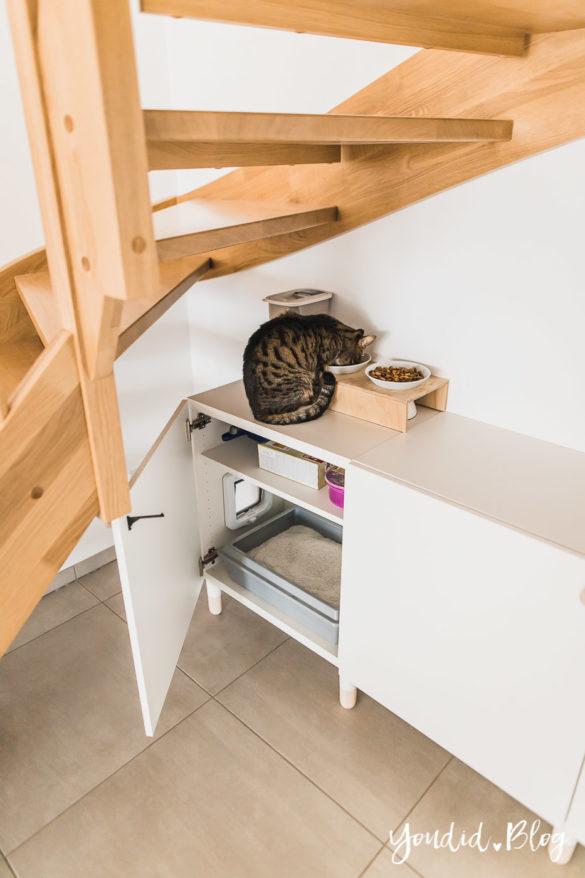 Katzenklo in einem IKEA Besta Schrank verstecken IKEA Hack verstecktes Katzenklo - Hiding cat litter box IKEA Hack hidden cat litter box | https://youdid.blog