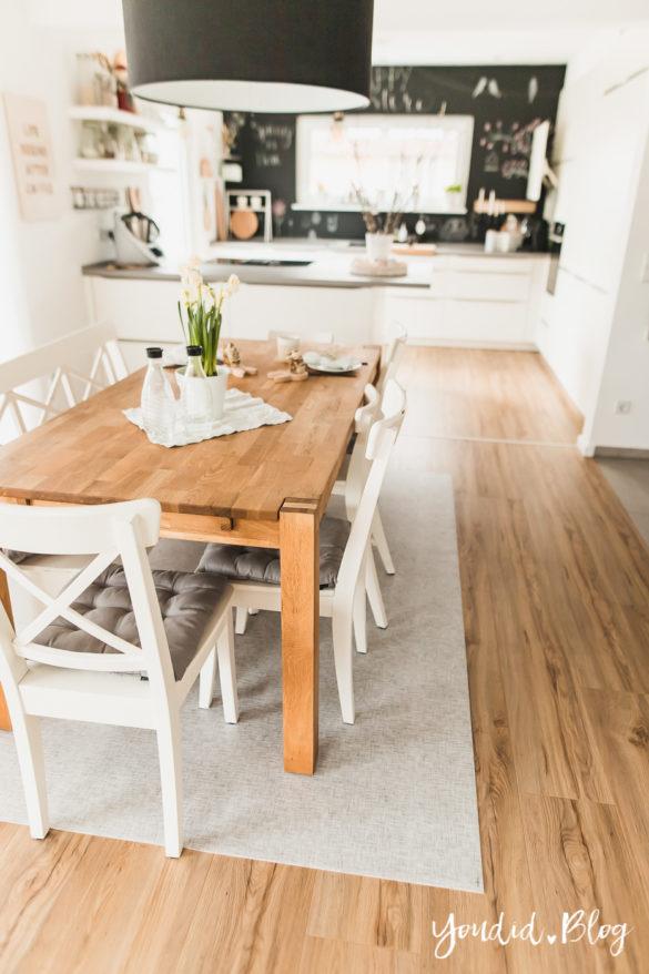 Fliesen Vinyl oder Holzfussboden in der Küche - Unsere Erfahrungen mit dem Purline Bioboden von Wineo | https://youdid.blog