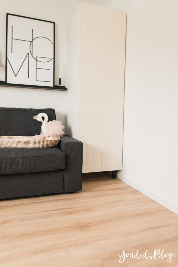 Fliesen Vinyl oder Holzfussboden in der Küche - Unsere Erfahrungen mit dem Purline Bioboden von Wineo Vinyl Gästezimmer | https://youdid.blog