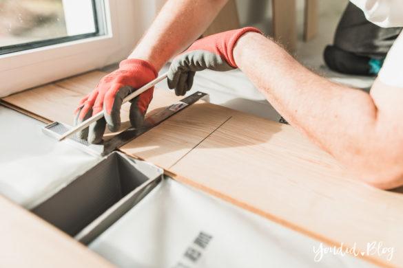 Fliesen Vinyl oder Holzfussboden in der Küche - Unsere Erfahrungen mit dem Purline Bioboden von Wineo Vinyl selbst verlegen | https://youdid.blog