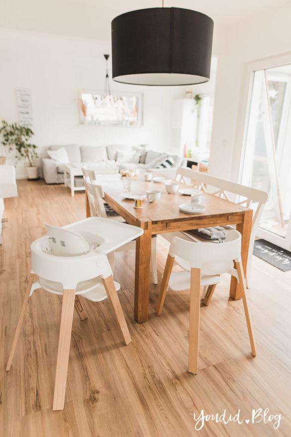 Fliesen Vinyl oder Holzfussboden in der Küche - Unsere Erfahrungen mit dem Purline Bioboden von Wineo Vinyl selbst verlegen Frühstück | https://youdid.blog