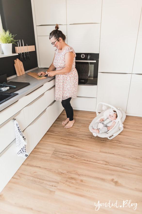 Fliesen Vinyl oder Holzfussboden in der Küche - Unsere Erfahrungen mit dem Purline Bioboden von Wineo Vinyl selbst verlegen Kochen | https://youdid.blog