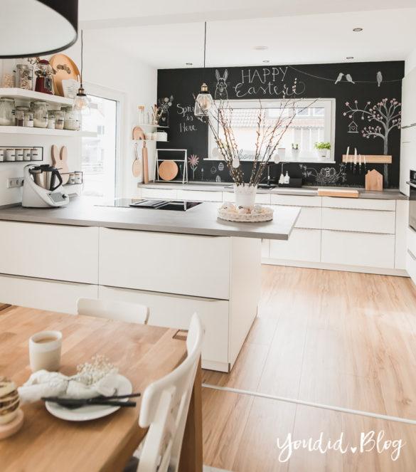 Fliesen Vinyl oder Holzfussboden in der Küche - Unsere Erfahrungen mit dem Purline Bioboden von Wineo Vinyl selbst verlegen Osterdeko | https://youdid.blog