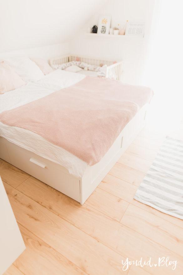 Fliesen Vinyl oder Holzfussboden in der Küche - Unsere Erfahrungen mit dem Purline Bioboden von Wineo Vinyl selbst verlegen Schlafzimmerboden | https://youdid.blog