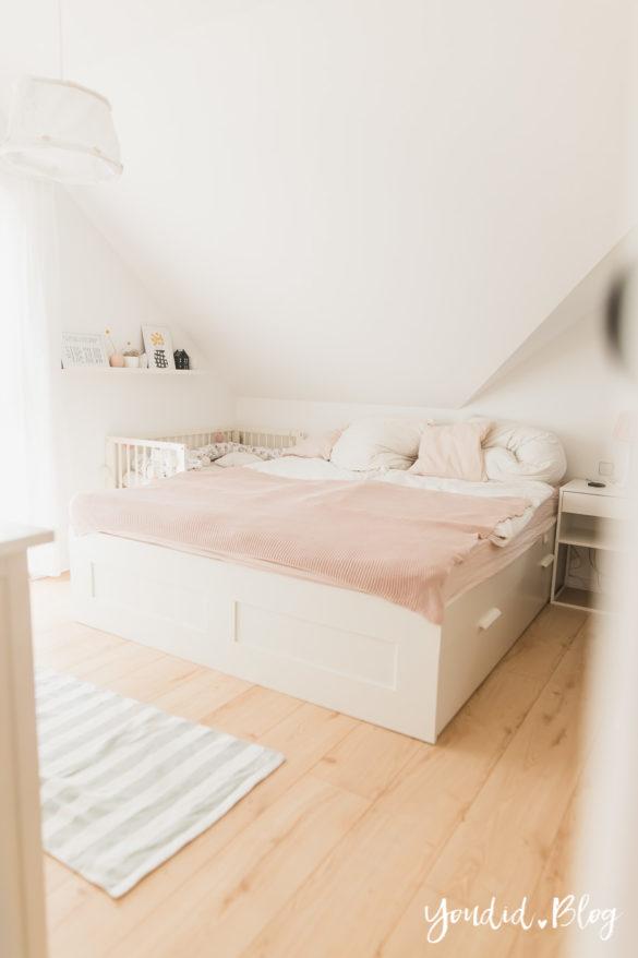 Fliesen Vinyl oder Holzfussboden in der Küche - Unsere Erfahrungen mit dem Purline Bioboden von Wineo Vinyl selbst verlegen Schlafzimmerboden2 | https://youdid.blog