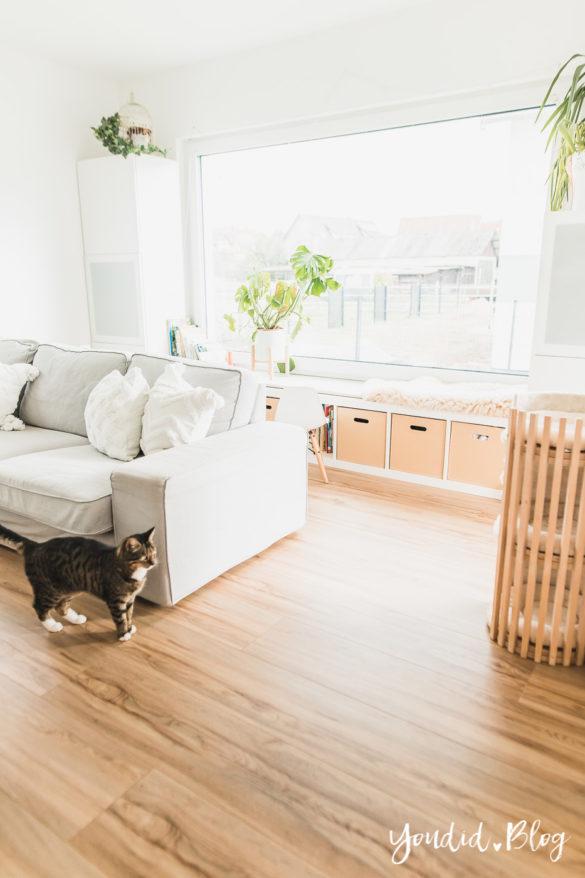 Fliesen Vinyl oder Holzfussboden in der Küche - Unsere Erfahrungen mit dem Purline Bioboden von Wineo Vinyl selbst verlegen Sitzfensterbank | https://youdid.blog