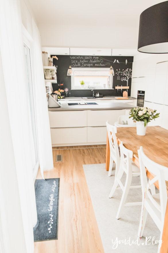 Fliesen Vinyl oder Holzfussboden in der Küche - Unsere Erfahrungen mit dem Purline Bioboden von Wineo Vinyl selbst verlegen Terrasse | https://youdid.blog