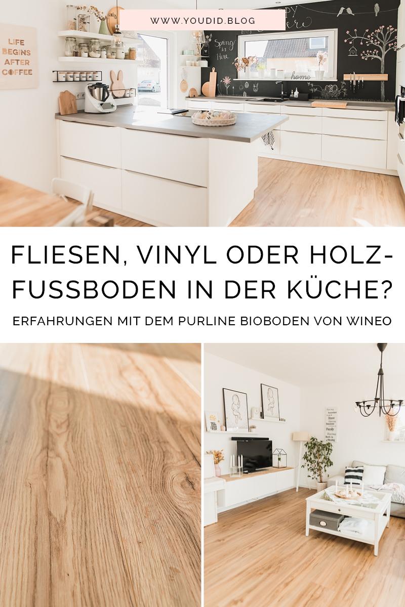 Unsere Erfahrungen mit dem Purline Bioboden von Wineo - Fliesen Vinyl oder Holzfussboden in der Kueche | https://youdid.blog