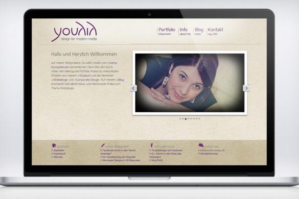 Screenshot von meiner neuen Webseite